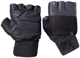 CP Bigbasket Netted Wrist Support Gym & Fitness Gloves (Black)