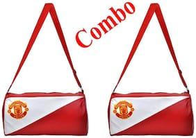 CP Bigbasket Pack of Two (2) Gym Bag Duffle Bag Travel Bag Sports Bag(Leatherite,Size 30L)