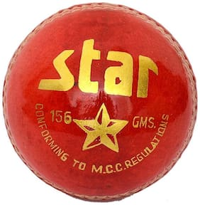 "Cricket Leather Ball ""CW Star"" (In Pack OF Six Balls)"