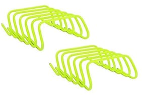 CW 12 x PVC Hurdles - 15.24 cm (6 Inch) Ultra Durable All Purpose Speed Training Agility and Plyometric Hurdles (Set of 12) Support all Sports Soccer Football Basketball Volleyball Tall Long Hurdles