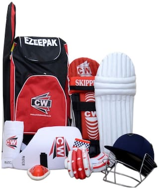 CW Cricket Kit with Accessories in Senior Size (Except Bat) - Ideal for 14 Year Above Child