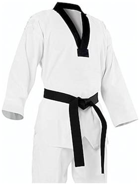CW Firefly Taekwondo Dress in White Color