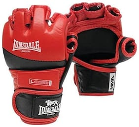 CW LONSDALE AMATEUR MMA FIGHT GLOVES: RED