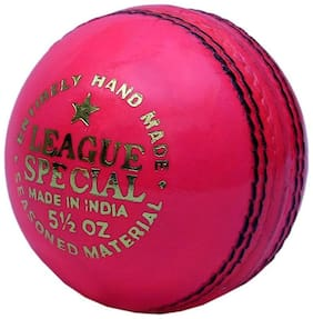 CW Pink Leather Cricket Ball (In Pack OF Three Balls)