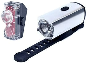 Cycartis Road MTB E-Bike Cyclocross Bicycle Rechargeable Front Head Light Silver
