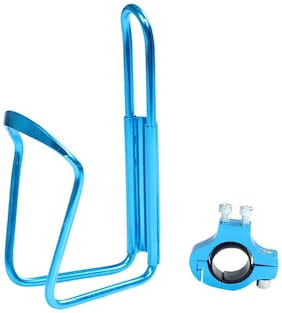 Cycle City Alloy Bottle Stand-Blue With Adapter