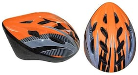 CYCLING HELMET ADJUSTABLE SIZE, W/N 1078 CERTIFIED, 12 AIR VENT, 54-60 CM, ORANGE