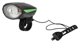 Dark Horse Bicycle CE Stanadard USB Rechargeable LED 3 Mode Front light and Horn 2 in 1 Light/Horn;Green