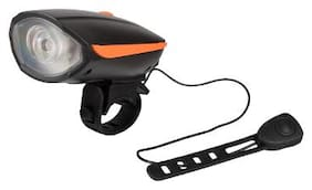 Dark Horse Bicycle CE Stanadard USB Rechargeable LED 3 Mode Front light and Horn 2 in 1 Light/Horn;Orange