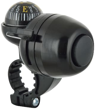 Dark Horse Bicycle Navigation Direction Finder Handlebar Bell with Compass Black