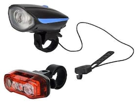 Dark Horse Bicycle USB Rechargeable LED Front Light & Horn & LED Tail Light Battery with Red & Blue Lights;Blue