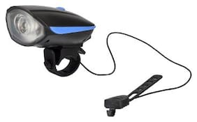 Dark Horse Bicycle Light And Horn 140 DB with super bright 250 Lumens Light;runs with 3 AAA Batteries;Blue