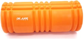 DE JURE FITNESS Imported EVA High Performance Light Weight Yet Rugged Orange Foam Roller 13inch