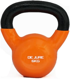 De Jure Fitness Rubber Cast iron Kettlebell ( 1 pc , 6 kg )