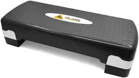 DE JURE FITNESS Polypropylene Adjustable Home Gym Exercise Fitness Aerobic Stepper (Black & Grey)