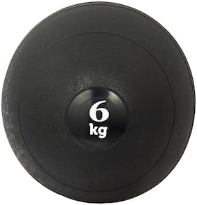 DE JURE FITNESS Imported Medicine Rubber Slam Ball Strength & Conditioning Cross Training, Core Training, Squats, Lunges & Plyometric, Slam Ball 6KG