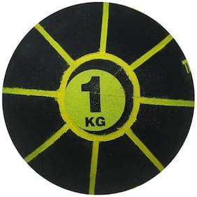 Diablo Rubber Medicine Balls (1 KG, Black-Yellow)