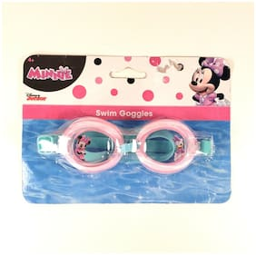 Disney Junior Minnie Youth Adjustable Swim Goggles For Ages 4+