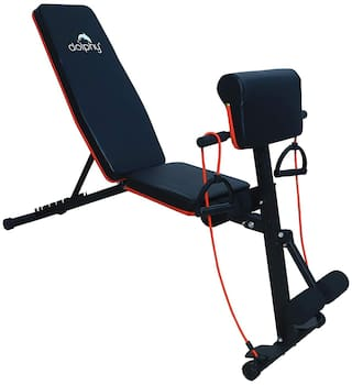 Dolphy Adjustable Weight Bench for Full Body Workout, Foldable Flat/Incline/Decline sit up Bench for Home Gym