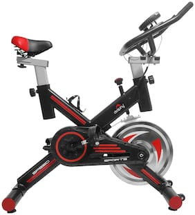 Dolphy Exercise Bike, Indoor Cycling Bike, Smooth & Quiet Stationary Spin Bike, Fully Adjustable