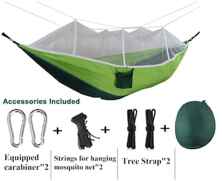 Dolphy Portable Camping Hammock with Mosquito Net for Hiking Travel
