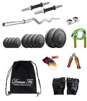 Dreamfit 12 Kg Home Gym With 3 Rods Backpack And Accessories-Multicolor