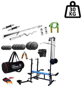 Dreamfit 30 kg Home Gym With 20 In 1 Multi Bench;Gym Bag And Accessories
