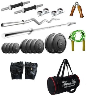Dreamfit 40 Kg Weight Plate With Gym Bag And Home Gym Accessories
