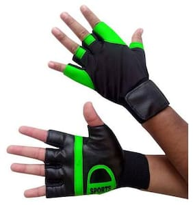 DreamPalace India Workout Gloves with Wrist Support for Gym Workouts, Pull Ups Gym & Fitness Gloves  (Green)