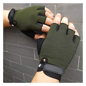DreamPalace India Gym Gloves (Green) Free Size