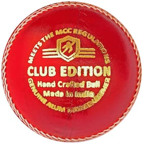 Duroplay Club Edition Cricket Leather Ball Red