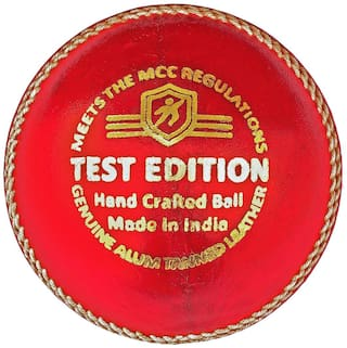 Duroplay Test Edition Cricket Leather Ball Red