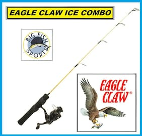 "EAGLE CLAW COLD ICE EAGLE Fishing Rod And Reel Combo 28"" Length  FREE USA SHIP!"