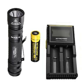 EagleTac P200LC2 1286Lm Flashlight XM-L2 U4 w/NL183 Battery & D2 Charger