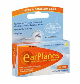 EarPlanes Ear Plugs Kid's Small Size 1 Pair (Pack of 3)