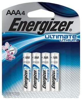 Energizer Ultimate Lithium AAA Battery 4 L92SBP-4