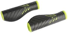 Ergonomic Mountain MTB Bicycle Bike Cycle Handlebar Grips 130mm Black&Green