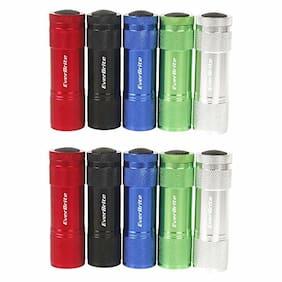 EverBrite 10 Pack 3AAA 6LED Aluminum Flashlight