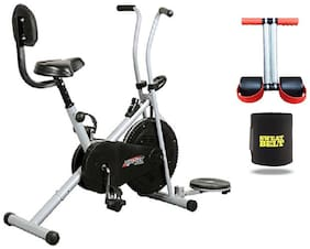Exercise Cycle Bike 1001 With Back Support And Twister For Home Use || BONUS SWEAT BELT AND TUMMY TRIMMER