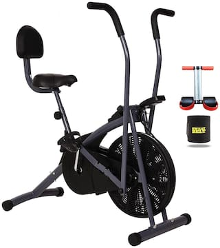 Exercise Gym Bike Stamina With Back Support For Home Use || BONUS SWEAT BELT AND TUMMY TRIMMER