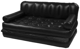 Fab Decorz 5 In 1 Inflatable Sofa Air Bed Couch With Free Electric Pump (Black)