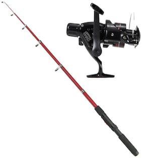Fishing Telescopic Rod With Spinning Reel (9Feet/270cm)
