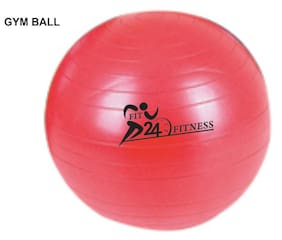 Fit24 Fitness Gym Ball-Pink (Size-75 CM)