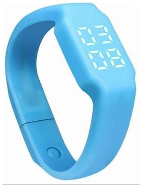 Fitness 3D PeDometer Sleep Temperature Calorie Monitor Time Display Silicon Without SpeeDometer (Blue)