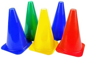 Fitness solutions Durable Marker Cones 6 Inch, 5 Spot markers