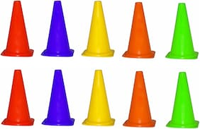 FITNESS SOLUTIONS CONE MARKERS 10 MARKER CONES IN ONE PACK, 9 INCHES