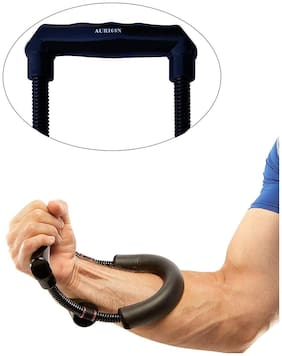 Fitness solutions Adjustable Forearm Strengthener Wrist Exerciser Equipment for Upper Arm Workout and Strength Training Hand Grip/Fitness Grip