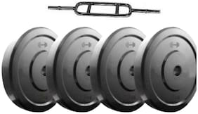 Fitness Sport Combo of best quality Egg rod bar with 1kg, 4 Dumbbell Plates