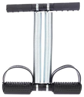 Fitniess Baba Tummy Trimmer With Double Steel Spring Black For Weight Loss For Women & Men Ab Exerciser