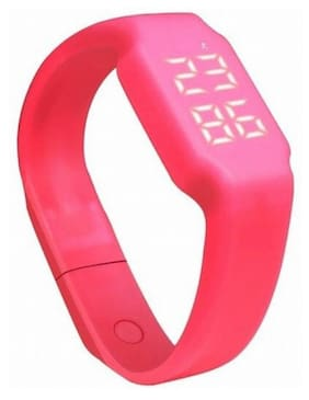 FLIPFIT Fitness 3D PeDometer Sleep Temperature Calorie Monitor Time Display Silicon Without SpeeDometer (Pink)